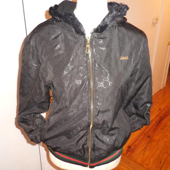 61e842208 Gucci Jackets & Blazers - Gucci monogram black bomber jacket sz XL fits ...
